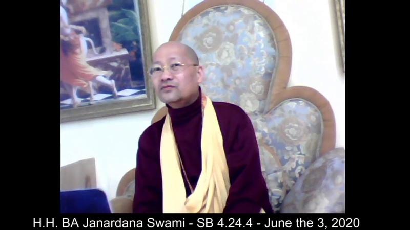 H.H. BA Janardana Swami - SB 4.24.4 - June the 3, 2020