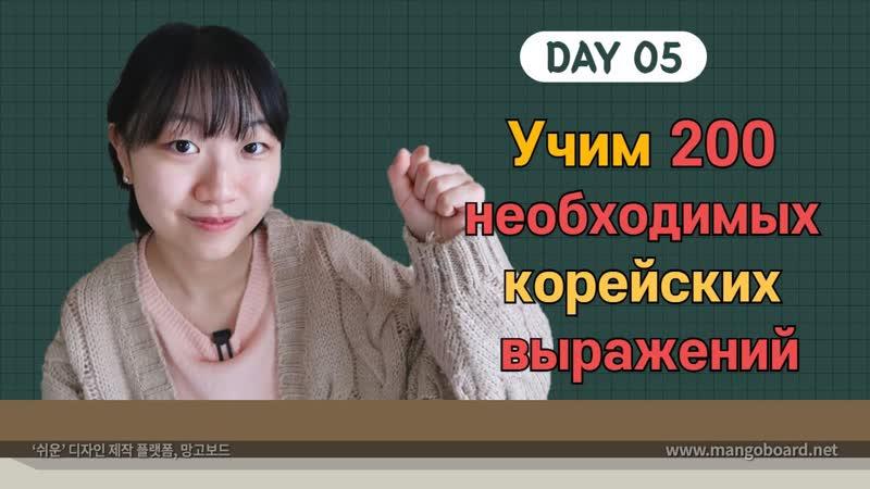 5 день Учим с Чериш 200 необходимых корейских выражений 한국어 200문장 외우고 왕초보 탈출하기