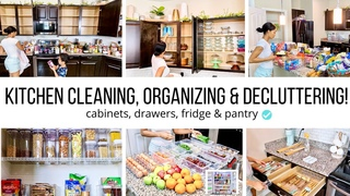 ALL DAY CLEAN & ORGANIZE WITH ME!! / KITCHEN CLEANING MOTIVATION / Jessica Tull cleaning