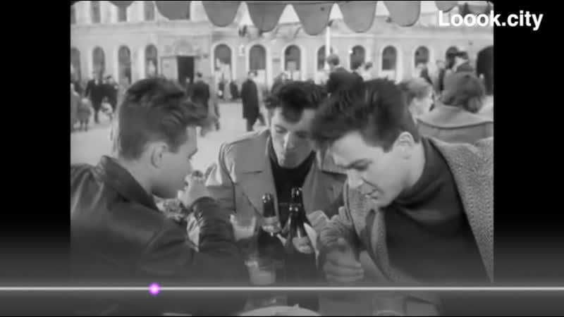 Уличное кафе Место не опознано 1962г Застава Ильича