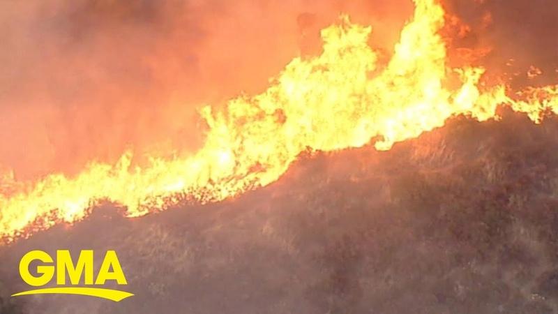 Mandatory evacuations underway after brush fire explodes