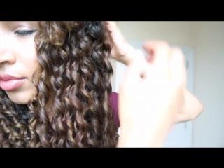 Heatless Curls _ 3 STRAND TWIST OUT!