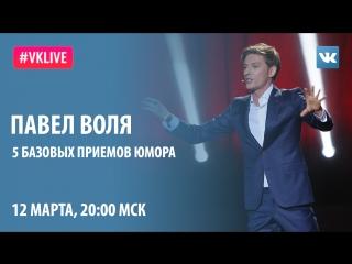 #VKlive: Павел Воля. 5 базовых приемов юмора