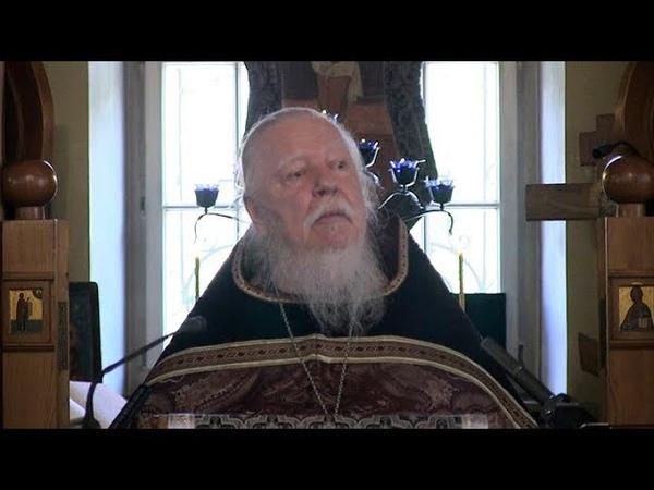 Протоиерей Димитрий Смирнов. Утренняя проповедь о пути смирения и Причастии Святых Христовых Таин