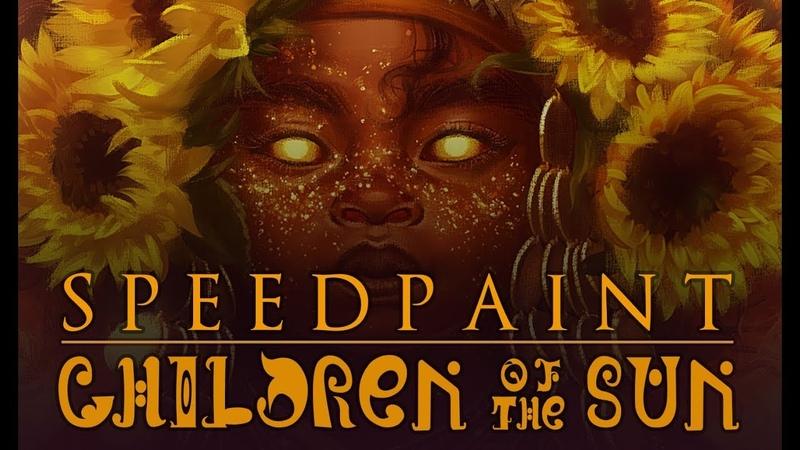 [speedpaint] paint tool sai - CHILDREN OF THE SUN (Dead Can Dance Inspired)
