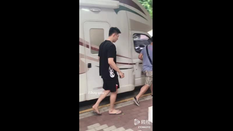 Huang Jingyu Johnny 黄景瑜 На съёмках Ледокола 13/07/2018