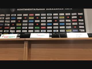 Пресс-конференция после матча с Ак Барсом (3:4 ОТ)  прямой эфир
