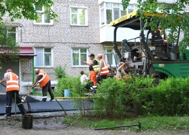 В мэрии Курска рассказали о ходе работ по благоустройству дворов