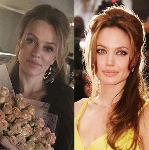Анджелина Джоли и ее российский двойник!