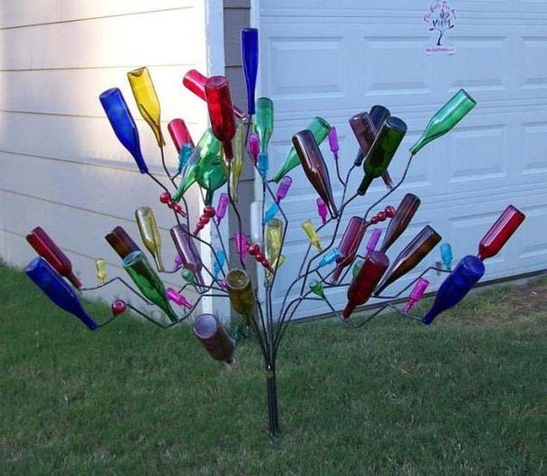Немного фантазии и у вас на участке цветущее дерево.