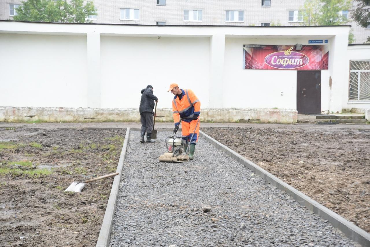20 тротуаров будет отремонтировано в столице Вологодской области
