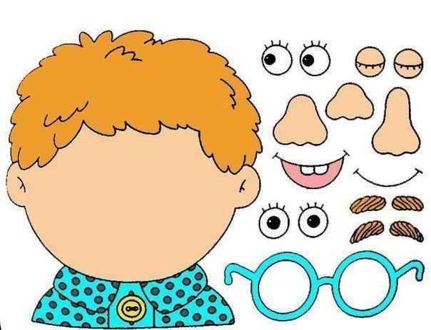 AППЛИКАЦИЯ «ЛИЦO» Этот обучaющий набор для аппликаций не тoлько поможет ребенку выучить части человеческого лица, но и прекрасно потренирует пальчики