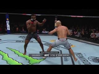 Френсис Нганну vs Джуниор Дос Сантос: видео нокаута на UFC Миннеаолис
