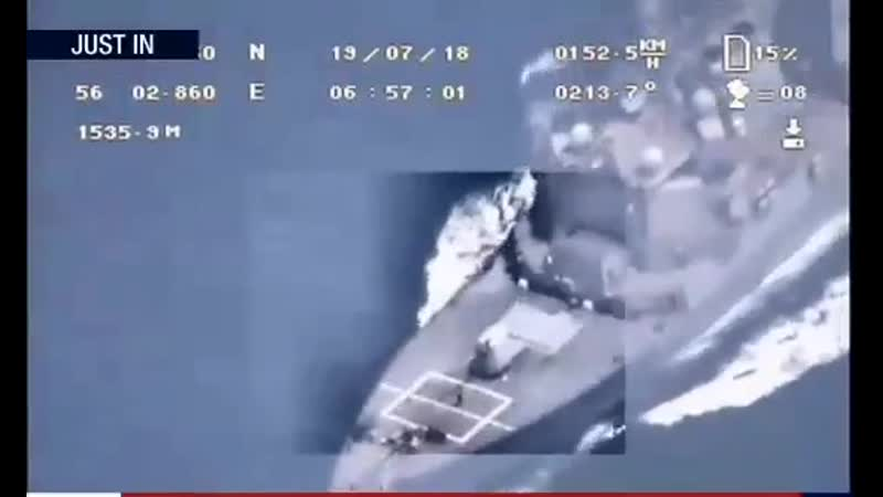 First footage that captured by Iranian drone from USS Boxer