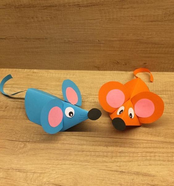 Поделка из бумаги: Мышки Символ 2020