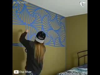 Красивая отделка стены -