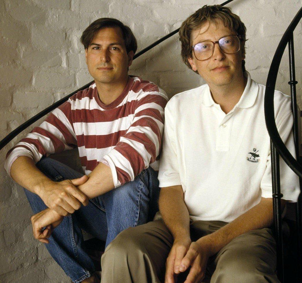 Стив Джoбс и Билл Гeйтс, 1991 год