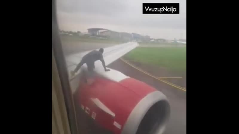 Man emerges from bush, hops onto moving plane at Murtala Muhammed Airport