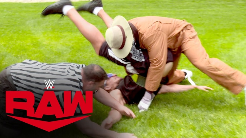 R Truth pins Rob Gronkowski to win 24 7 Title Raw June 1 2020