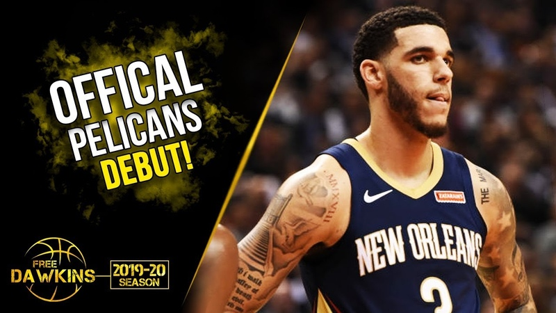 Lonzo Ball Official Pelicans DEBUT 2019.10.22 vs Raptors - 8 Pts, 5 Asts | FreeDawkins