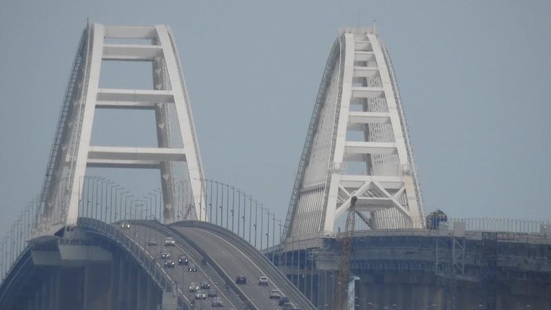Утром с Капкан.Последние сотни метров РШР на крымском мосту.