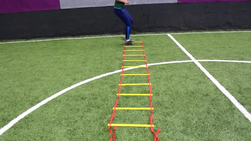Топ-10 упражнений на координационной лестнице