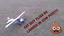 Sport Cub PA 18 by FMS covered in cow poo!!  7 16 2019