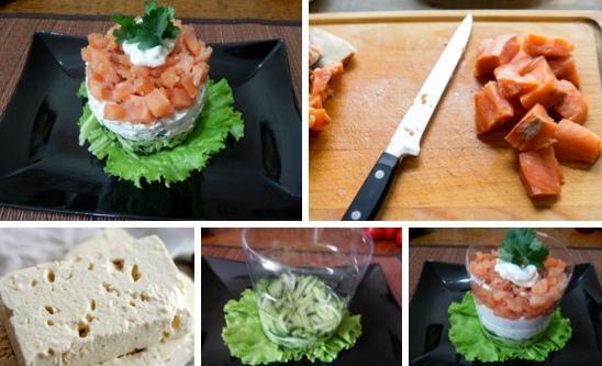 Нежный салат с горбушей