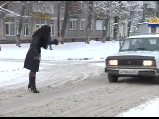Съёмки сюжета в Новосибирске