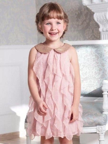 Шьем милые воланчики на платье для девочки