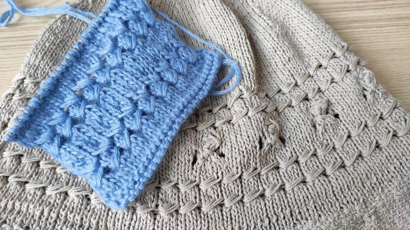 Узор МЕРЕЖКА спицами узор из вытянутых петель спицами openwork stitching pattern knitting
