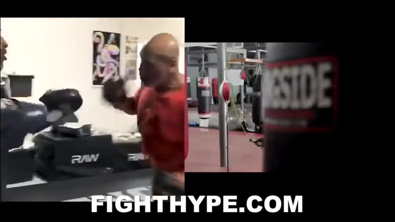 MIKE TYSON VS EVANDER HOLYFIELD 3 AT AGES 53 57 SIDE BY SIDE IM BACK TRAINING COMPARISON