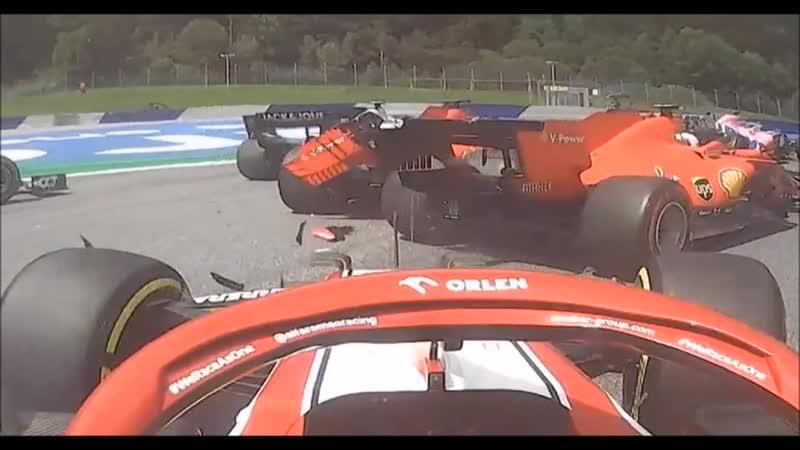 Formula 1 2020 austria гран при штирии авария двух феррари