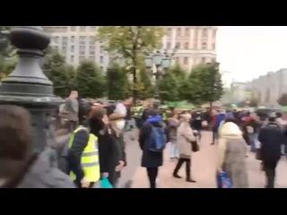 🔉 Звуковое сопровождение митинга от полиции....