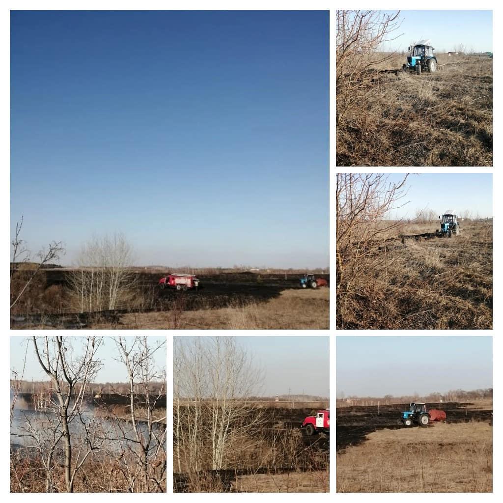 Пожароопасный сезон: в Петровском районе сегодня, 14 апреля, зарегистрировано восемь загораний сухой травы и две термические точки