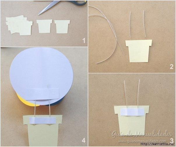 ГИРЛЯНДА С БУМАЖНЫМИ ВОЗДУШНЫМИ ШАРАМИ Для работы нам понадобится: - цветная бумага (можно купить упаковку бумаги для ксерокса, там как раз такие сочные цвета) - ножницы - клей для бумаги -