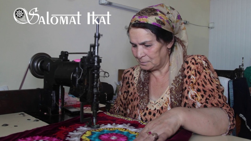 How traditional machine embroidery is made by women artisans in Tajikistan