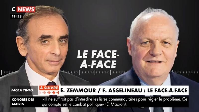 Débat Zemmour VS Asselineau sur CNEWS 19 11 19