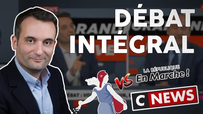 Florian Philippot débat avec un député macroniste sur Cnews Bigard Avia libertés élections