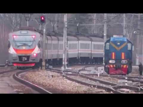 Электропоезд ЭП2Д 0007 ЦППК станция Селятино 3 01 2020