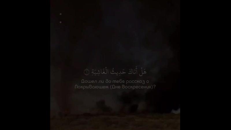 Чтец Abdul Rohman MosadSurat « 88 _ al Ghashiah »