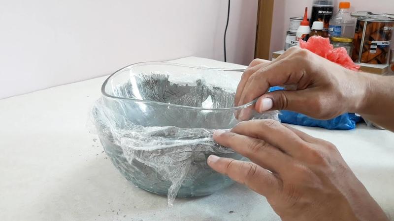 Cam kalıp ile beton saksı nasıl yapılır Cam kalıp nasıl kullanılır Beton saksı kalıpları