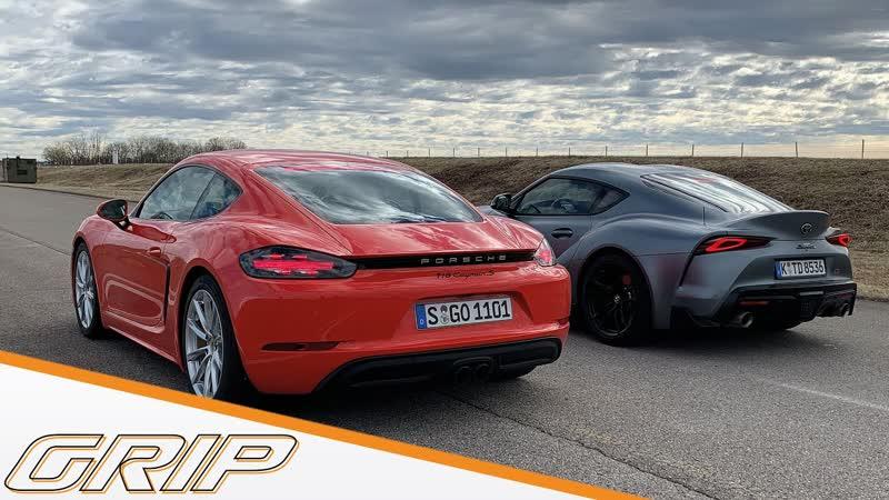 Deutschland Japan Duell Porsche 718 Cayman S vs Toyota GR Supra GRIP 1080p 25fps H264 128kbit AAC