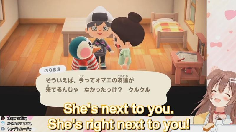 [Eng Sub]Okayu's Surprise Visit To Korone's Island - Animal Crossing: New Horizons