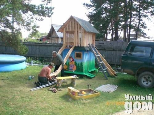 Детская площадка своими руками дом мастерская чудес!