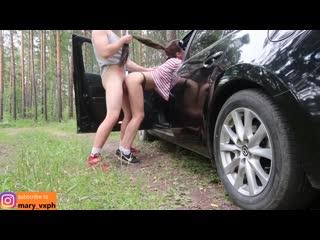 MaryVincXXX - Трахнул любовницу  в лесу в машине LuxuryGirl  pornohub большие сиськи порно porno русское