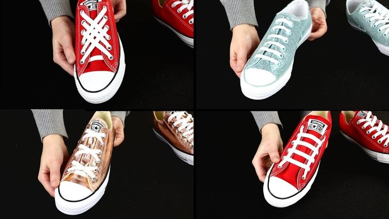 6 оригинальных и стильных вариантов шнуровки обуви