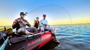 Cемейная рыбалка с лодки - ПАПИНЫ СЛЕЗЫ и радость
