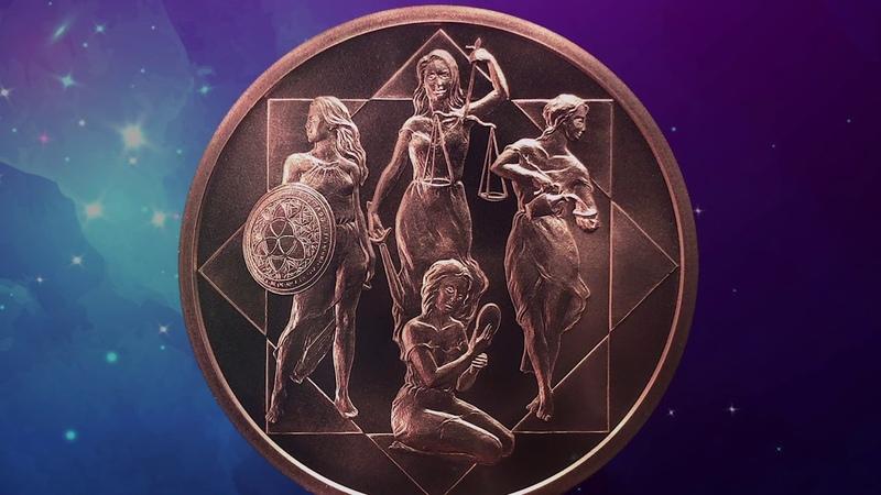 1 oz Cardinal Virtues MiniMintage BU Silver Copper Round