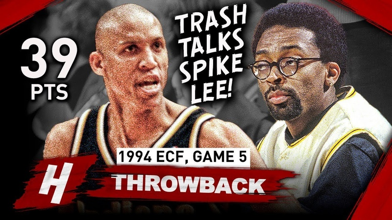 Reggie Miller EPIC Full Game 5 Highlights vs Knicks 1994 NBA Playoffs 39 Pts Famous Choke Sign